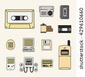 gadget of 90s  icon    Shutterstock .eps vector #429610660