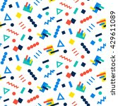 vector seamless pattern... | Shutterstock .eps vector #429611089