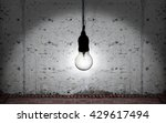 an incandescent lightbulb... | Shutterstock . vector #429617494