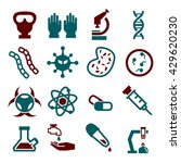 biohazard  toxic icon set | Shutterstock .eps vector #429620230