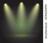 bright lighting with spotlights | Shutterstock .eps vector #429620494