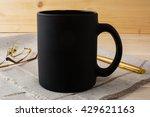 Black Coffee Mug Mockup. Black...