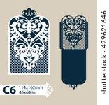 layout congratulatory envelope... | Shutterstock .eps vector #429621646