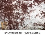 the old cracked brown wall. old ... | Shutterstock . vector #429636853