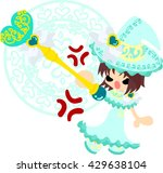 the stylish and pretty witch... | Shutterstock .eps vector #429638104
