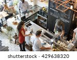 coffee shop bar counter cafe... | Shutterstock . vector #429638320