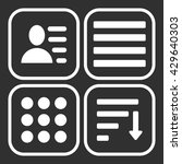 hamburger menu icons set. white ... | Shutterstock . vector #429640303