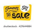 summer sale banner and poster ... | Shutterstock .eps vector #429644884