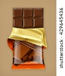 Chocolate Bar  Vector Object