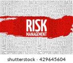 risk management word cloud ... | Shutterstock .eps vector #429645604