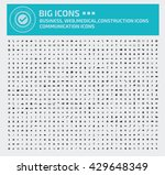 big icon set business icon web... | Shutterstock .eps vector #429648349