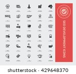 seo development  icon set vector | Shutterstock .eps vector #429648370