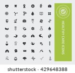 healthy care icon set vector | Shutterstock .eps vector #429648388