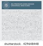 big icon set universal website... | Shutterstock .eps vector #429648448