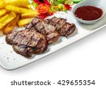 Steak With Vegetables  Fries...