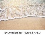 soft wave of ocean on sandy... | Shutterstock . vector #429657760