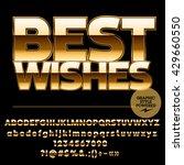 royal golden set of alphabet... | Shutterstock .eps vector #429660550