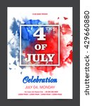 white text 4th of july on... | Shutterstock .eps vector #429660880