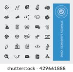 strategy and business icon set... | Shutterstock .eps vector #429661888