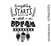 creative hand drawn text... | Shutterstock .eps vector #429662053