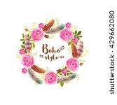 boho style frame made by... | Shutterstock .eps vector #429662080