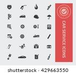 car service icon set vector | Shutterstock .eps vector #429663550