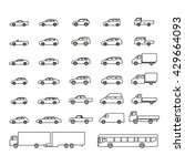 car icons big set vector...   Shutterstock .eps vector #429664093