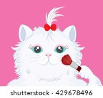 illustration of cute cat with... | Shutterstock .eps vector #429678496