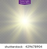 glow light effect. star burst... | Shutterstock .eps vector #429678904