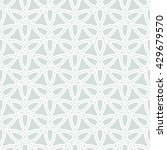 geometric ornament with white... | Shutterstock . vector #429679570