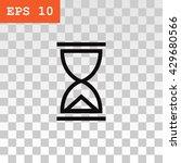 hourglass icon.    Shutterstock .eps vector #429680566