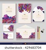 corporate identity. vector... | Shutterstock .eps vector #429683704