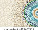disintegration morocco mosaic... | Shutterstock .eps vector #429687919