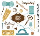 arts and crafts hand drawn... | Shutterstock .eps vector #429688600
