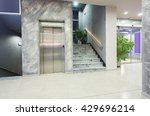 elevator and stairs in a modern ... | Shutterstock . vector #429696214