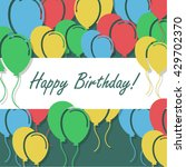 birthday background with... | Shutterstock .eps vector #429702370