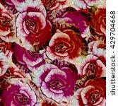 begonias flowers. seamless...   Shutterstock . vector #429704668