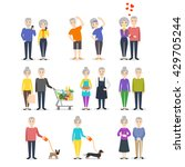 vector set of senior people.... | Shutterstock .eps vector #429705244