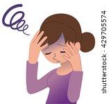 headache | Shutterstock .eps vector #429705574