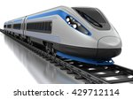 High Speed Train. Isolated On...
