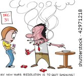 stop smoking resolution. a... | Shutterstock .eps vector #42971218