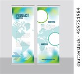 roll up banner template ... | Shutterstock .eps vector #429721984