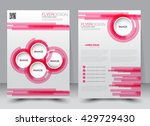 abstract flyer design... | Shutterstock .eps vector #429729430