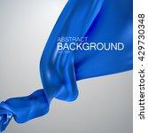 blue silk fabric. vector... | Shutterstock .eps vector #429730348