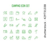 camping icons.  backpack  axe ... | Shutterstock .eps vector #429731338