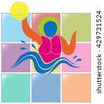 sport icon for water polo... | Shutterstock .eps vector #429731524