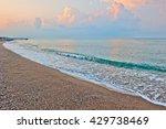 Small Waves Of The Sea At Dawn