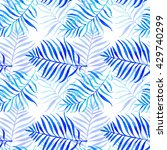 palm leaves seamless pattern.... | Shutterstock . vector #429740299