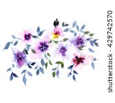 floral background. watercolor... | Shutterstock . vector #429742570