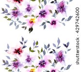 floral background. watercolor... | Shutterstock . vector #429742600